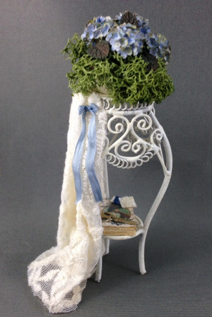 Lace Trimmed Plant Stand