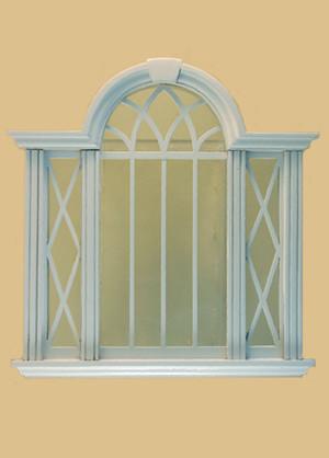 Cambridge Decorated Double Window