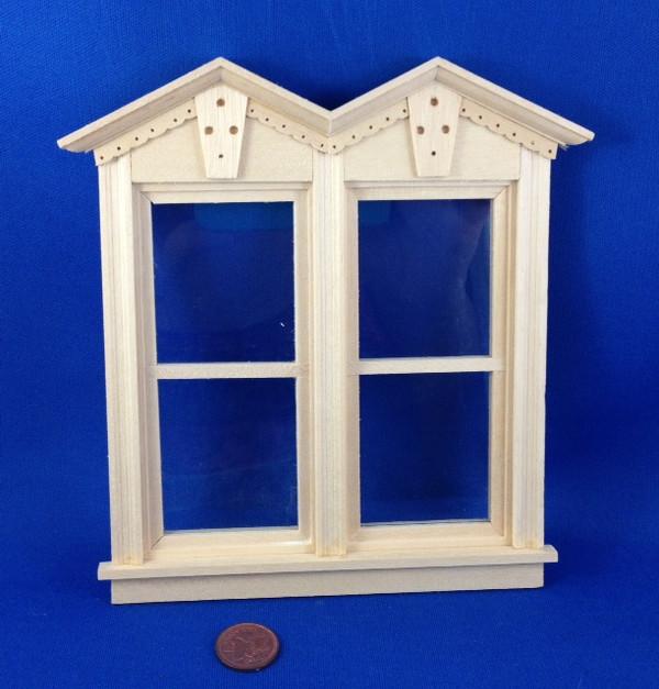 Fancy Nonworking Victorian Double Window