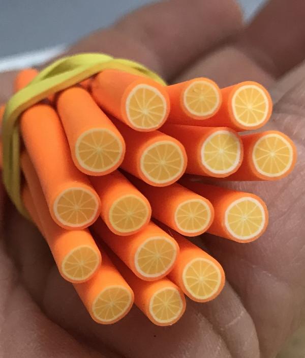 unpeeled orange