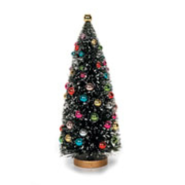 """8 1/2"""" Pre-Decorated Christmas Tree with Working Lights"""