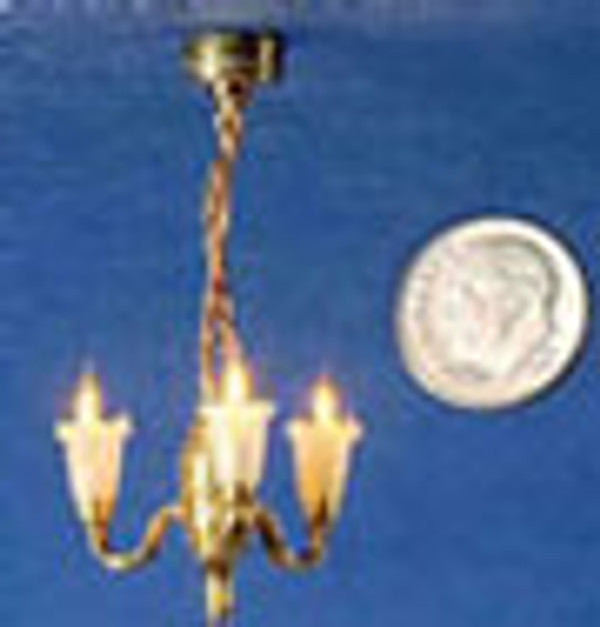 3 Light Chandelier with Clear Shades