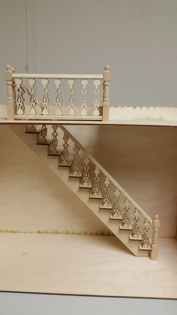 Lancaster Straight Staircase with Landing Kit