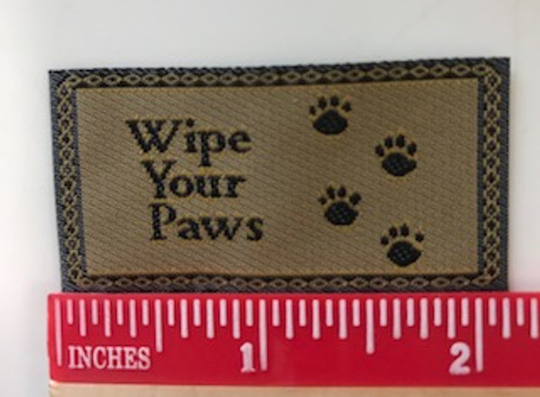 """""""Wipe Your Paws"""" mat"""