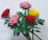 Peach Rose Flower Kit