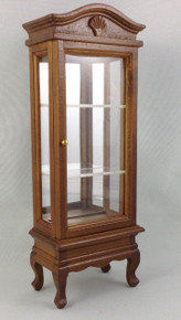 Cabinet with door closed.  One shown is walnut, only mahogany in stock.