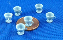 Set of 6 Blue Cups