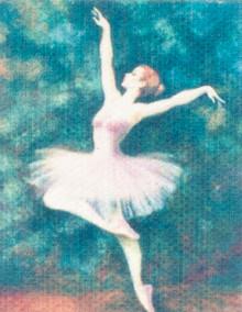 Unframed Ballet Painting