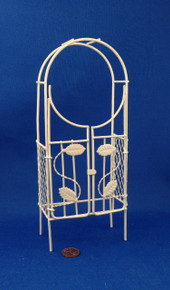 Dollhouse/Fairy Garden Cream Wire Arbour