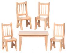 Kitchen Table Set  of 5 (oak)