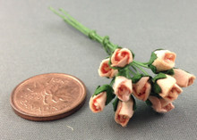 Peach Paper Rose Buds