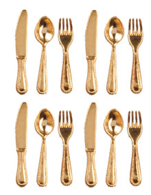 12 pc. Cutlery Set - Gold