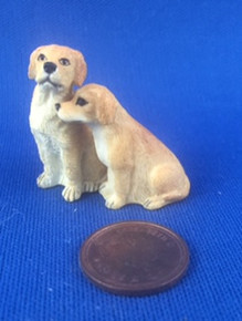 Pair of Snuggly Dogs - 1/24 scale