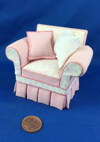 Pink Fabric Chair