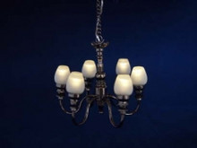 LED Battery Modern 6 Arm Chandelier