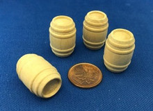 "1/2"" Scale Wooden Barrels (7)"