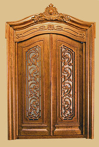 Pollinade Carved Double Door, Walnut