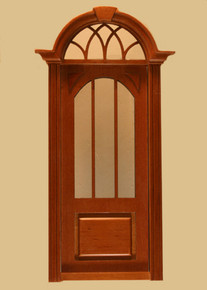 Cambridge Exterior  Single Door, Walnut