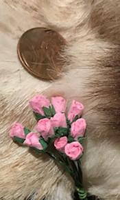 Pink Paper Rose Buds