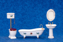 4 pc. Porcelain Bath Set