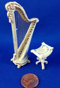1/24 Scale Bespaq Harp & Stool
