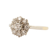 Pre-Owned 1.75 Carat Diamond Cluster 18ct Gold Ring