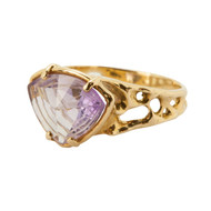 Pre-Owned Amethyst 18ct Gold Ring