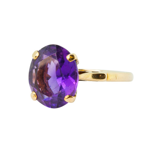 Pre-owned Amethyst 9ct Gold Ring