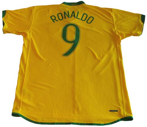 NIKE BRAZIL 2007 HOME RONALDO JERSEY