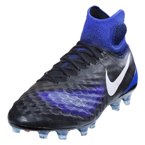 NIKE MAGISTA OBRA II FG men's firm ground cleats black/paramount blue