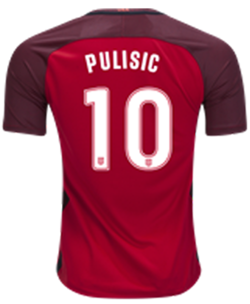 NIKE USA 2017 `PULISIC` 3RD RED JERSEY