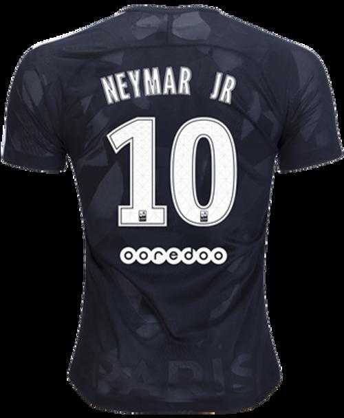 NIKE PARIS SAINT GERMAIN 2018 NEYMAR BLACK 3RD JERSEY