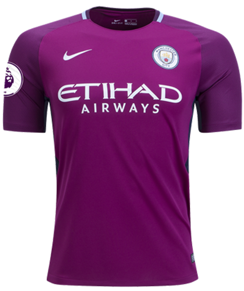 NIKE MANCHESTER CITY 2018 AWAY MAROON JERSEY