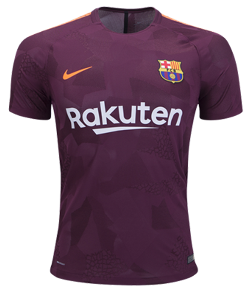 NIKE BARCELONA 2018 AUTHENTIC 3RD JERSEY MAROON