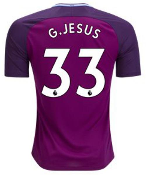 NIKE MANCHESTER CITY 2018 G. JESUS AWAY MAROON JERSEY