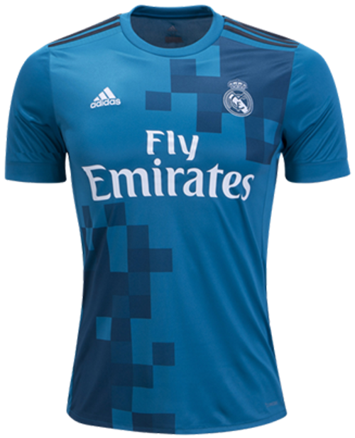 ADIDAS REAL MADRID 2018  3RD JERSEY teal blue