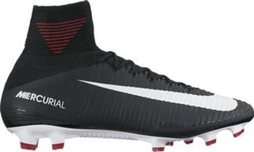 Nike Mercurial Superfly V FG Soccer Cleat  black/dark grey/white