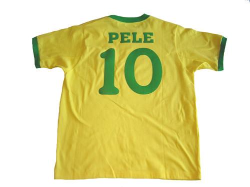 BRAZIL 1970 RETRO `PELE` JERSEY