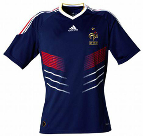 ADIDAS FRANCE 2010 HOME JERSEY BLUE