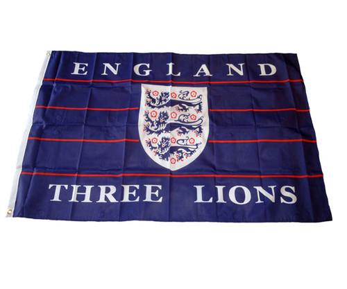 ENGLAND 3 LIONS FLAG NAVY BLUE