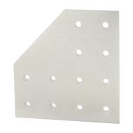 80/20 12 Hole - 90 Degree Angled Flat Plate