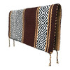 Western Saddle Blanket Reversible - Chocolate Brown and Tan