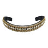Pampered Pony Gold/Clear Crystal Browband - front view