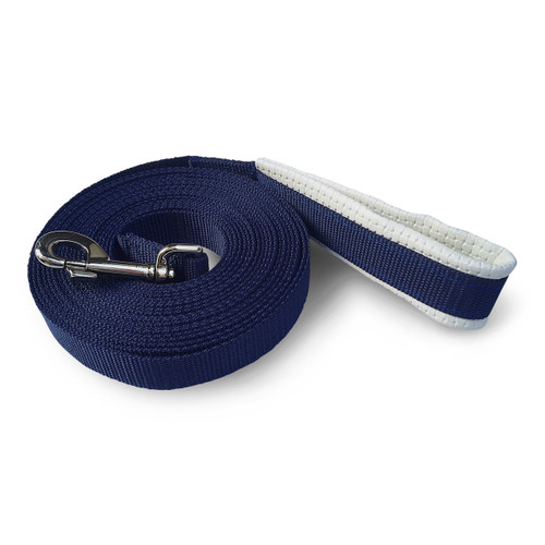 7 Metre Lunge Rein With Padded Handle - Blue