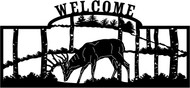 Feeding Deer Welcome Sign