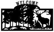 Welcome sign, Deer Standing