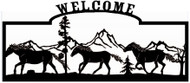 Welcome sign, Three Horses