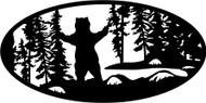 Oval Insert, Bear Standing