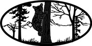 Oval Insert, Cub in a Tree