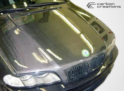 BMW 3 Series 4DR OEM Carbon Fiber Creations Body Kit- Hood 1999-2001